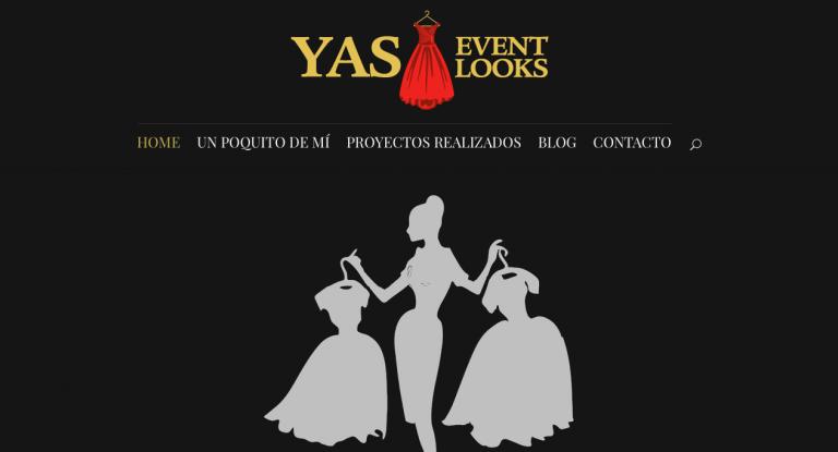 Diseño web barcelona Yas Event Looks agencia