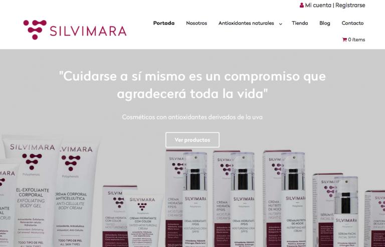 proyecto de diseño web y tienda online para cosméticos SILVIMARA