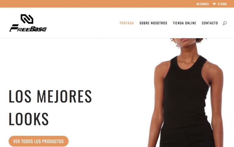 Diseño web y tienda online para Free Base Shop Online