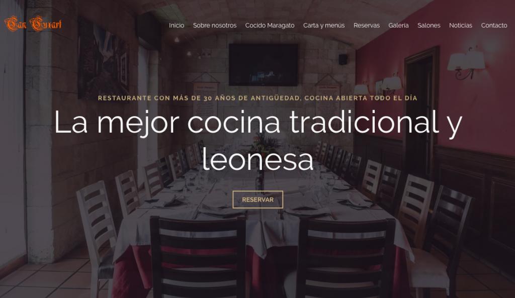 Diseño web para el restaurante Can Cuxart