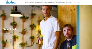 diseño web para Kailani Ice Tea