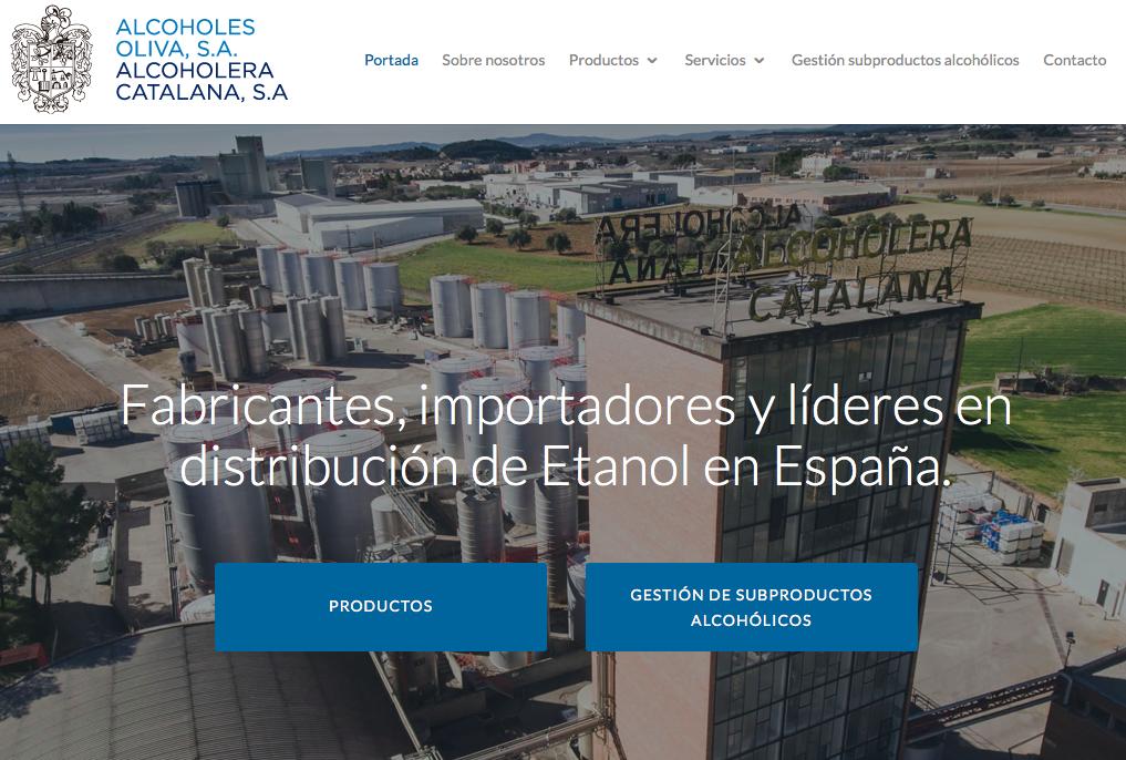 diseño web para Alcoholes Oliva S.A