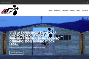 diseño web para Indrone Park