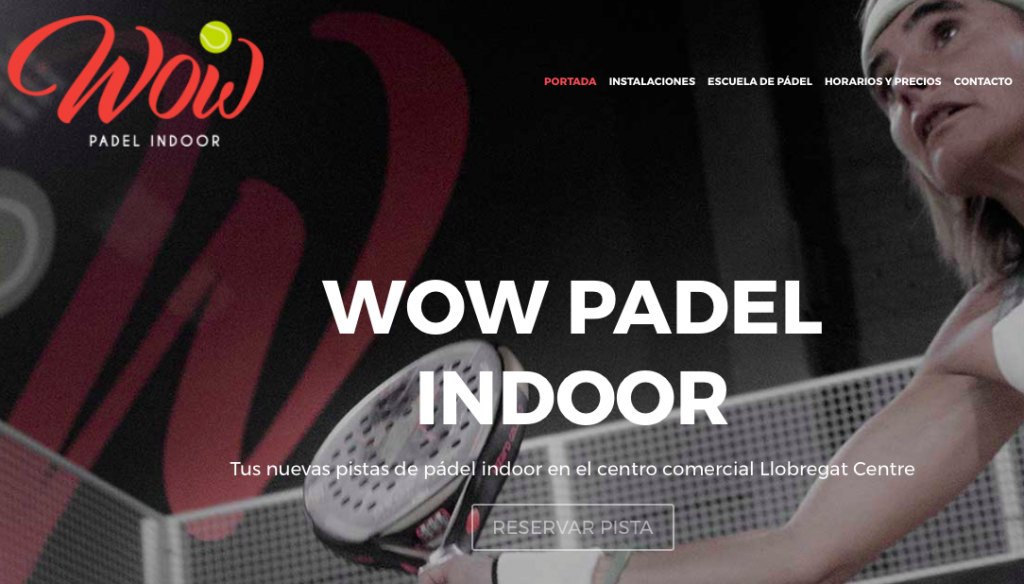 diseño web barcelona wow padel indoor club