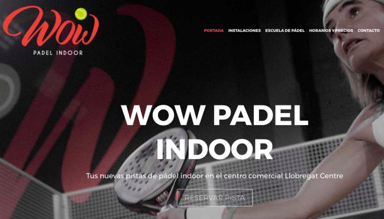 diseño web barcelona wow padel indoor club