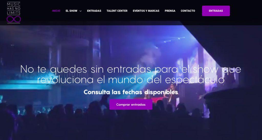 Diseño Web para Music Has No Limits vayawebs barcelona agencia