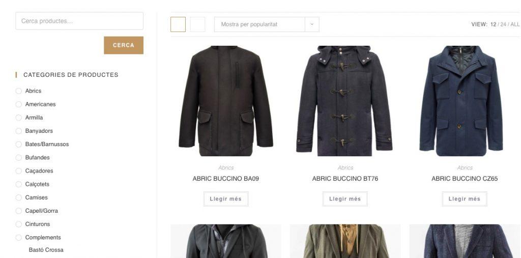 Diseño de Tienda Online Sastrería Lorenzo