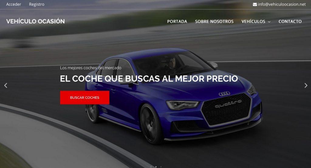 vehículo ocasión diseño web anuncios clasificados