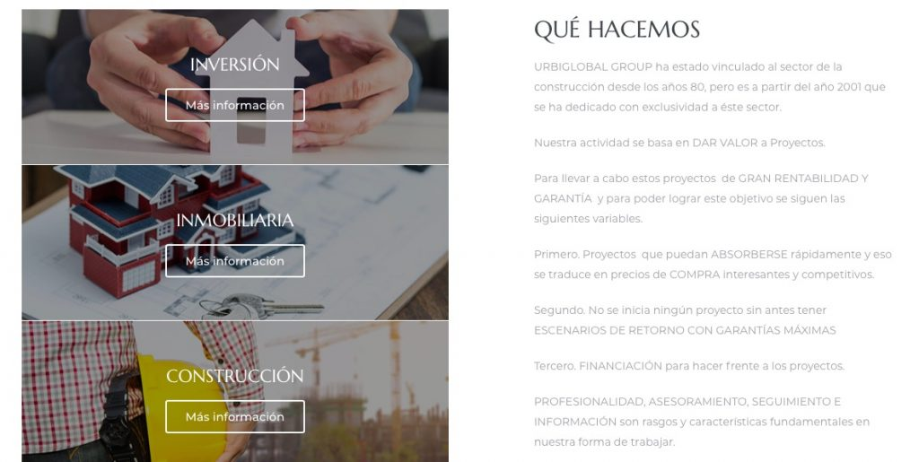 diseño web barcelona vayawebs urbiglobal group